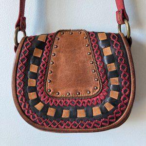 VINTAGE Boho Leather Bag